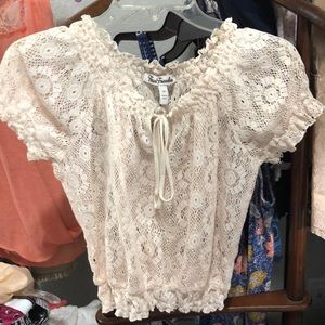 True freedom sheer cropped top